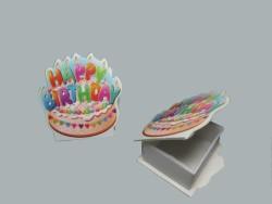 - Kutu Doğum Günü Pasta Plastik