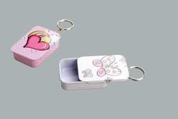 Kutu Kalpli Anahtarlı Pembe - Thumbnail