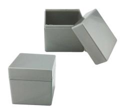 - Kutu Kare Gümüş 5x5cm Pk:12