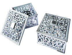 - Kutu Kare Gümüş 8*8 Cm Pk:10 Kl:280