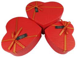 - Kutu Karton Kalp Karışık Renkli 3lü Set Pk:3 Kl:36