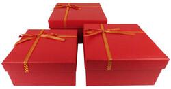 - Kutu Karton Kare Karışık Renkli 3 Lü Set Pk:3kl:36