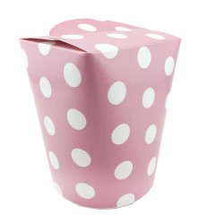 - Kutu Karton (mısır Cips Kutusu)puantiye Pembe