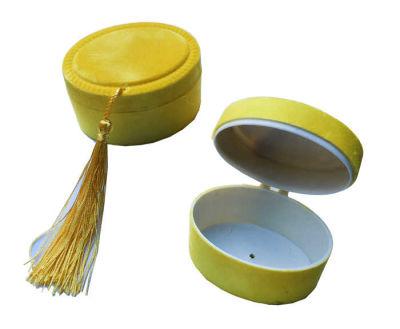 Kutu Oval Flok Kaplama Altın