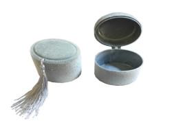 - Kutu Oval Flok Kaplama Gümüş