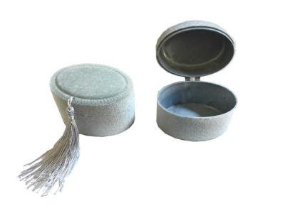Kutu Oval Flok Kaplama Gümüş