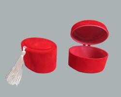 - Kutu Oval Flok Kaplama Kırmızı