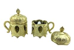 Kutu Plastik Kahvedanlık Modeli Altın - Thumbnail