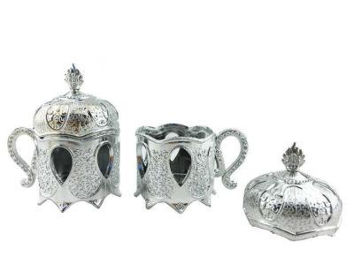 Kutu Plastik Kahvedanlık Modeli Gümüş