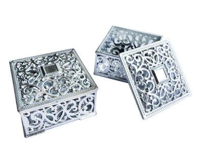 Plastik Küçük Boy Gümüş Kutu
