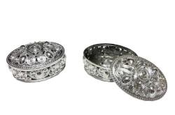 - Kutu Plastik Oval Gümüş