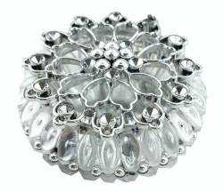 Kutu Yuvarlak Etrafı Boncuklu Gümüş - Thumbnail