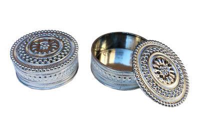 Kutu Yuvarlak Model Yeni Gümüş