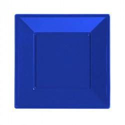 - Lacivert Büyük Plastik Kare Tabak (23x23 cm) 8'li Paket