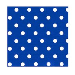 - Puanlı Lacivert Kağıt Peçete (33x33 cm) 20'li Paket