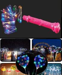 - Balon Ve Dekorasyon Led Işığı Rengarenk Pembe 3 Mt