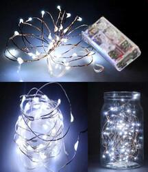 - Led Işık Pilli 3 Fonksiyonlu Beyaz 5mt Pk10-1000
