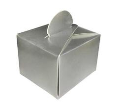 - Lokumluk Karton Düzrenk Desensiz Gümüş Pk:50 Kl:75
