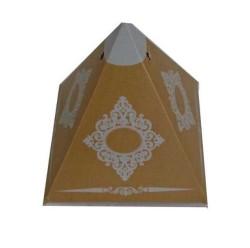 - Lokumluk Karton Piramit Desenli Altın
