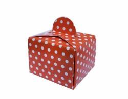 - Puantiyeli Kırmızı Karton Lokumluk