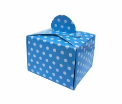 - Puantiyeli Mavi Karton Lokumluk