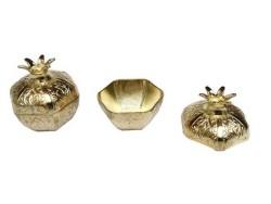 - Nar Metal Küçük Altın Kutu Lokumluk
