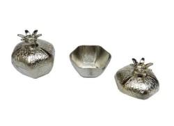 - Nar Metal Küçük Gümüş Kutu Lokumluk