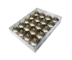 Nar Metal Küçük Gümüş Kutu Lokumluk - Thumbnail