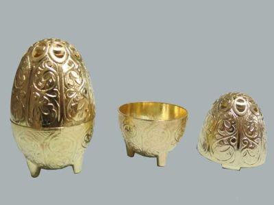 Yumurta Metal Altın Kutu Lokumluk