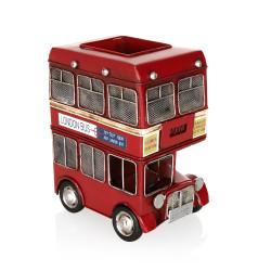 Londra Şehir Otobüsü Retro Kalemlik - Thumbnail