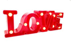 - Love Led Yazı Işıklı Pilli 30 cm