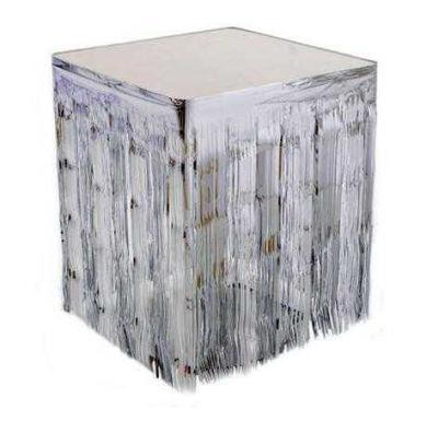 Masa Kenarı Eteği Ve Fonsüsü Metalize Gümüş (75x420 cm) 1'li Paket