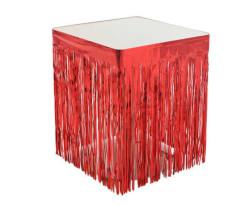 - Masa Kenarı Eteği Ve Fonsüsü Metalize Kırmızı (350x70 cm) 1'li Paket