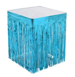 - Metalize Masa Kenarı Eteği Mavi