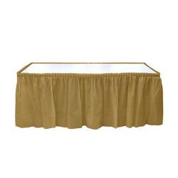 - Plastik Masa Kenarı Eteği Altın (422x72 cm) 1'li Paket