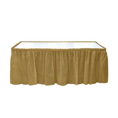 Plastik Masa Kenarı Eteği Altın (422x72 cm) 1'li Paket