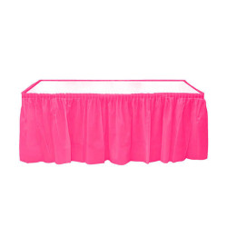 - Plastik Masa Kenarı Eteği Fuşya (422x72 cm) 1'li Paket
