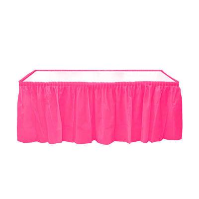 Plastik Masa Kenarı Eteği Fuşya (422x72 cm) 1'li Paket