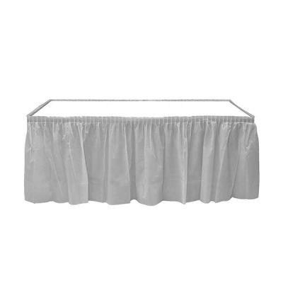 Plastik Masa Kenarı Eteği Gümüş (422x72 cm) 1'li Paket