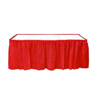 Plastik Masa Kenarı Eteği Kırmızı (422x72 cm) 1'li Paket