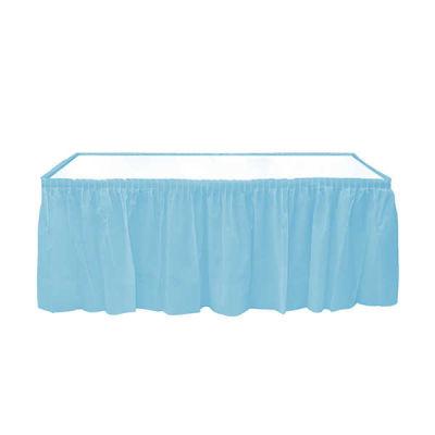 Plastik Masa Kenarı Eteği Mavi (422x72 cm) 1'li Paket