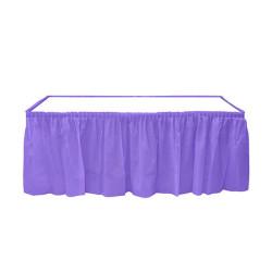 - Plastik Masa Kenarı Eteği Mor (422x72 cm) 1'li Paket