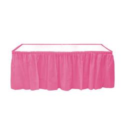 - Plastik Masa Kenarı Eteği Pembe