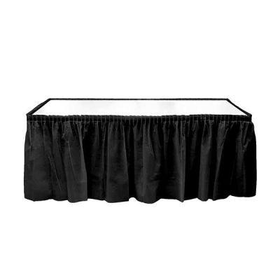 Plastik Masa Kenarı Eteği Siyah (422x72 cm) 1'li Paket