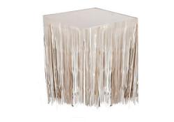 - Metalize Masa Kenarı Eteği Beyaz