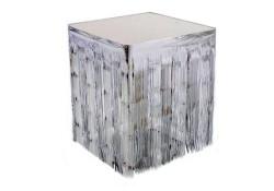 - Masa Kenarı Eteği Ve Fonsüsü Metalize Gümüş (75x420 cm) 1'li Paket