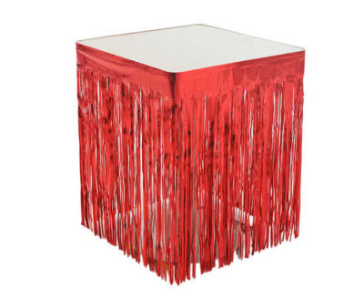 Metalize Masa Kenarı Eteği Kırmızı (75x420 cm) 1'li Paket