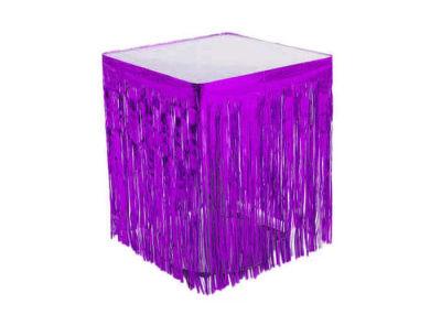 Masa Kenarı Eteği Ve Fonsüsü Metalize Mor (75x200 cm) 1'li Paket