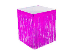 - Masa Kenarı Eteği Ve Fonsüsü Metalize Pembe (75x200 cm) 1'li Paket