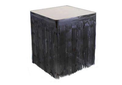 Metalize Masa Kenarı Eteği Siyah (75x420 cm) 1'li Paket